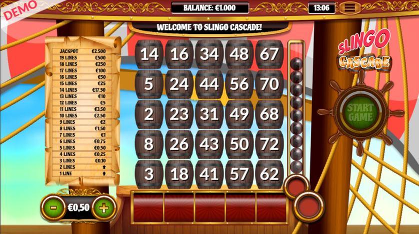 Slingo Cascade Casino Slot Review