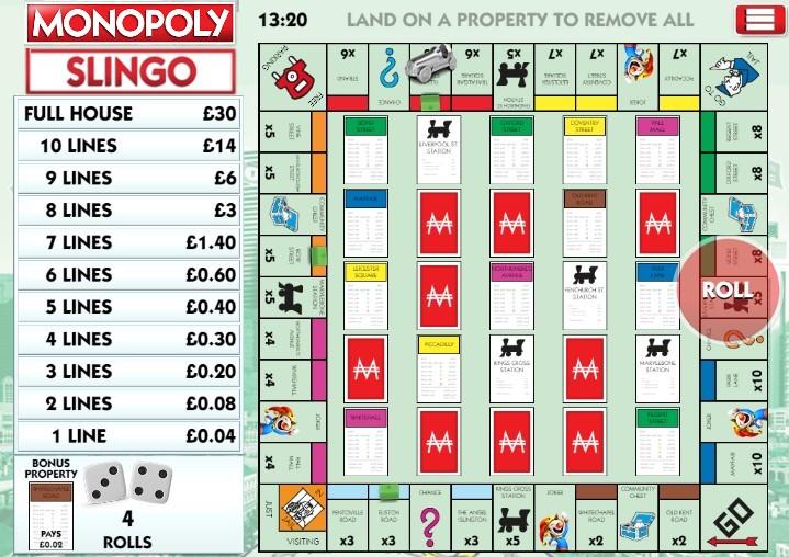 Slingo Monopoly Review